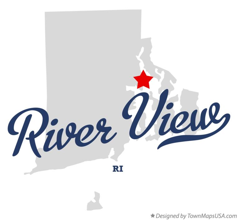 Map of River View Rhode Island RI
