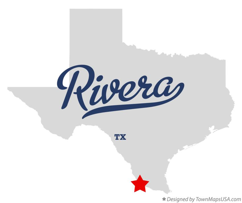 Map of Rivera Texas TX