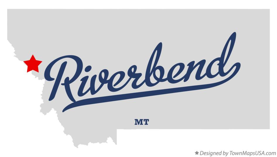 Map of Riverbend Montana MT