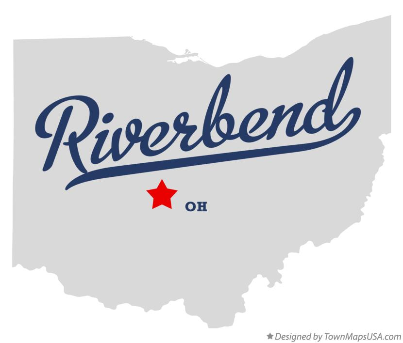 Map of Riverbend Ohio OH