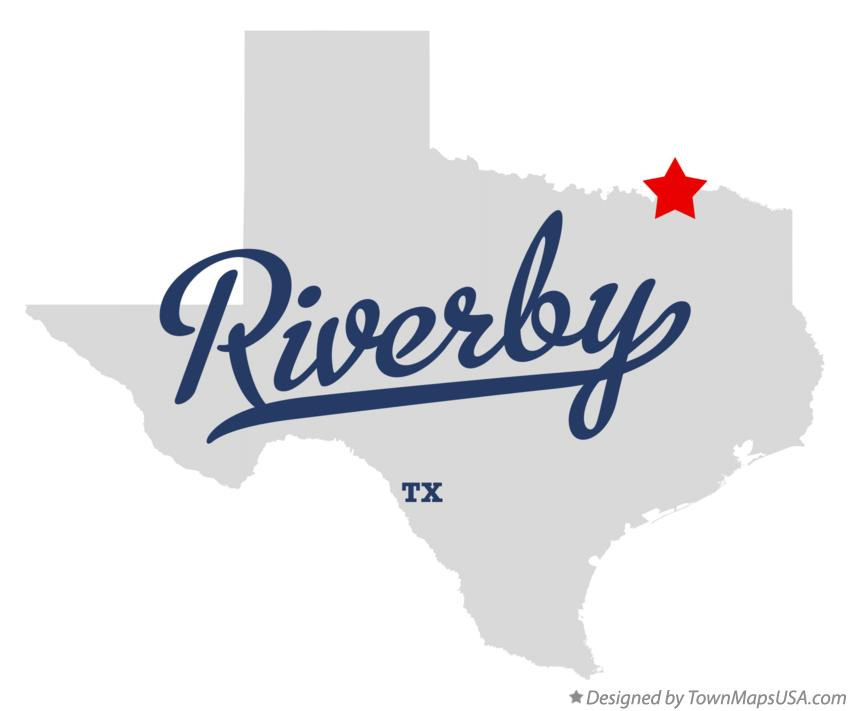 Map of Riverby Texas TX