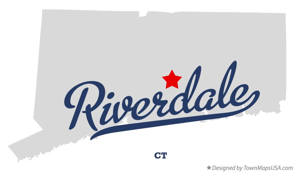 Map of Riverdale Connecticut CT