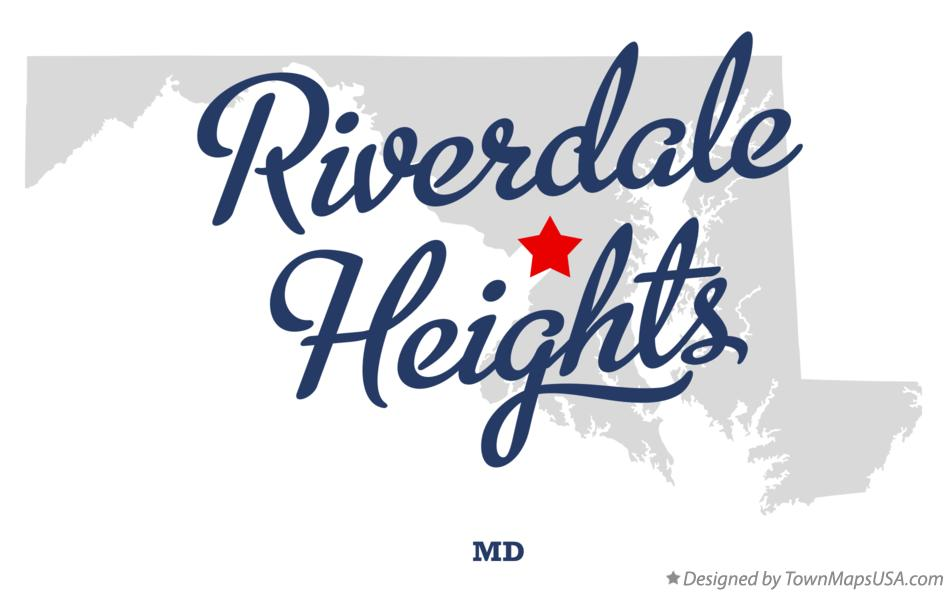 Map of Riverdale Heights Maryland MD