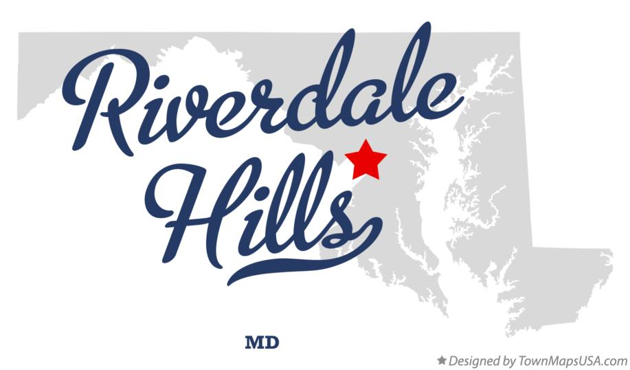 Map of Riverdale Hills Maryland MD