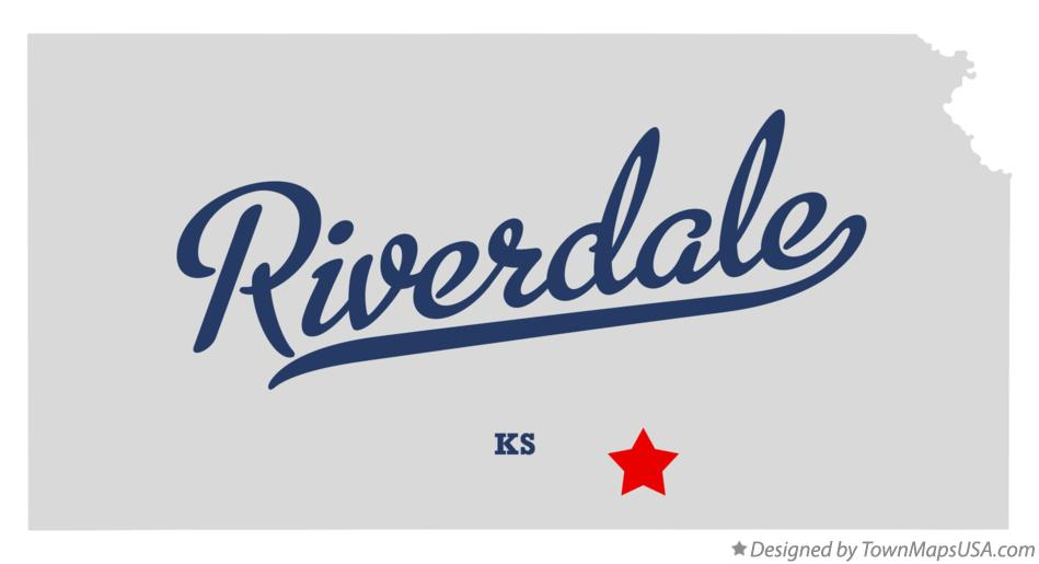 Map of Riverdale Kansas KS