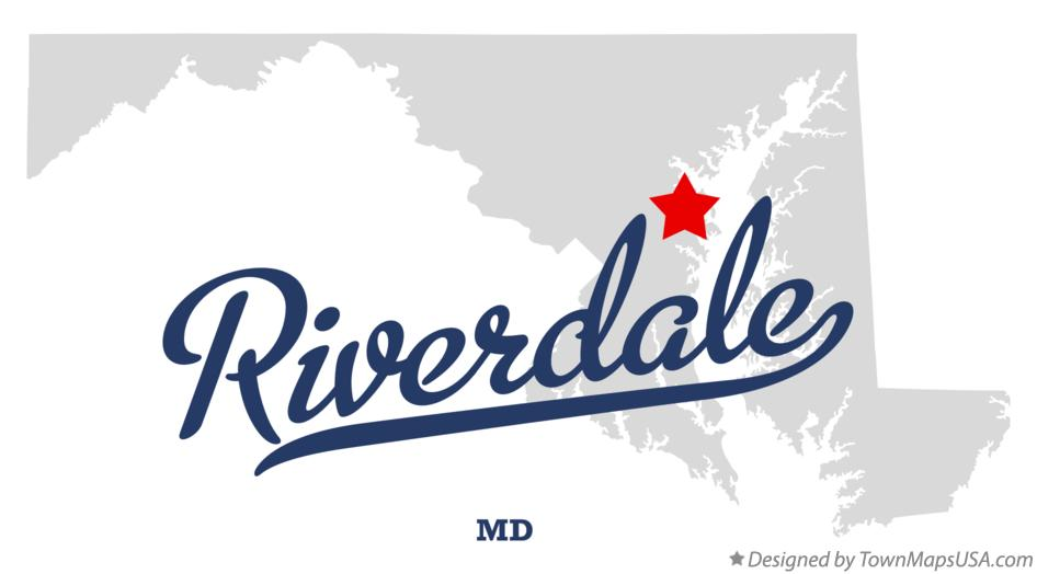 Map of Riverdale Maryland MD
