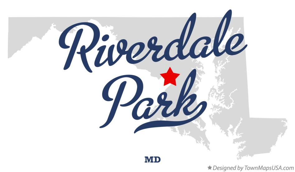 Map of Riverdale Park Maryland MD