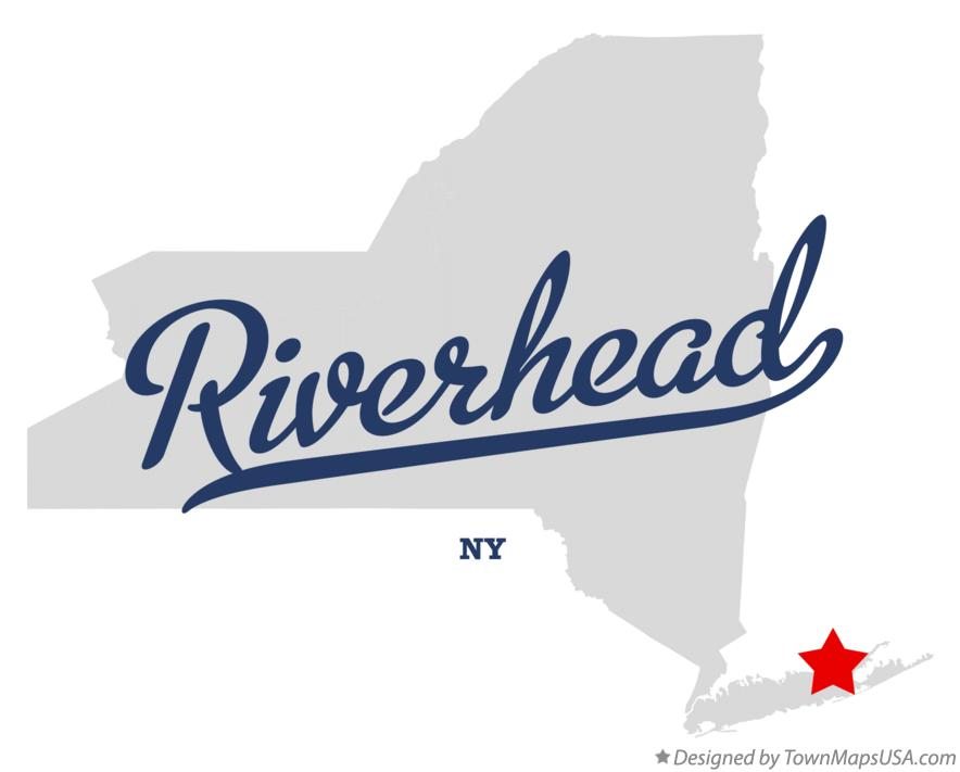 Map of Riverhead New York NY