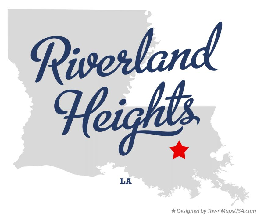 Map of Riverland Heights Louisiana LA