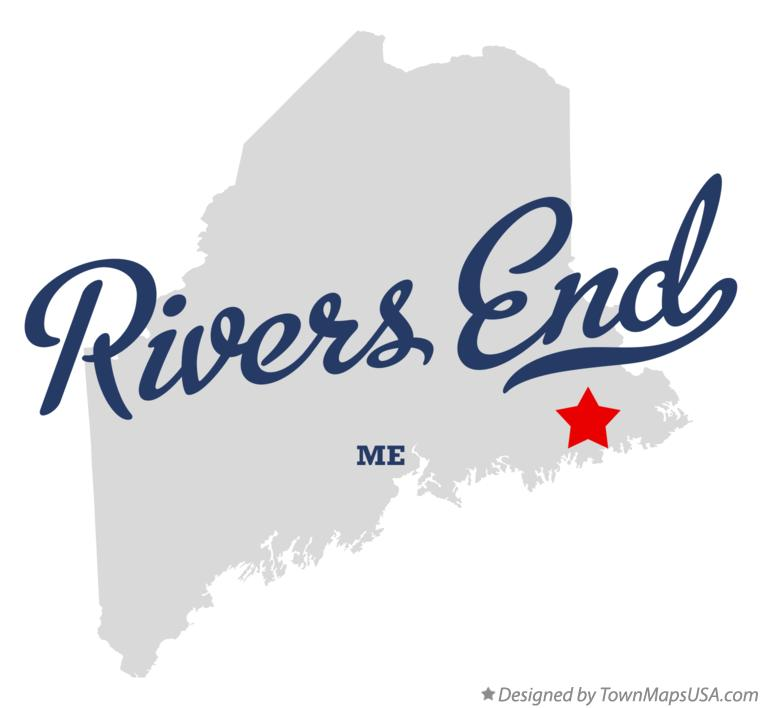 Map of Rivers End Maine ME