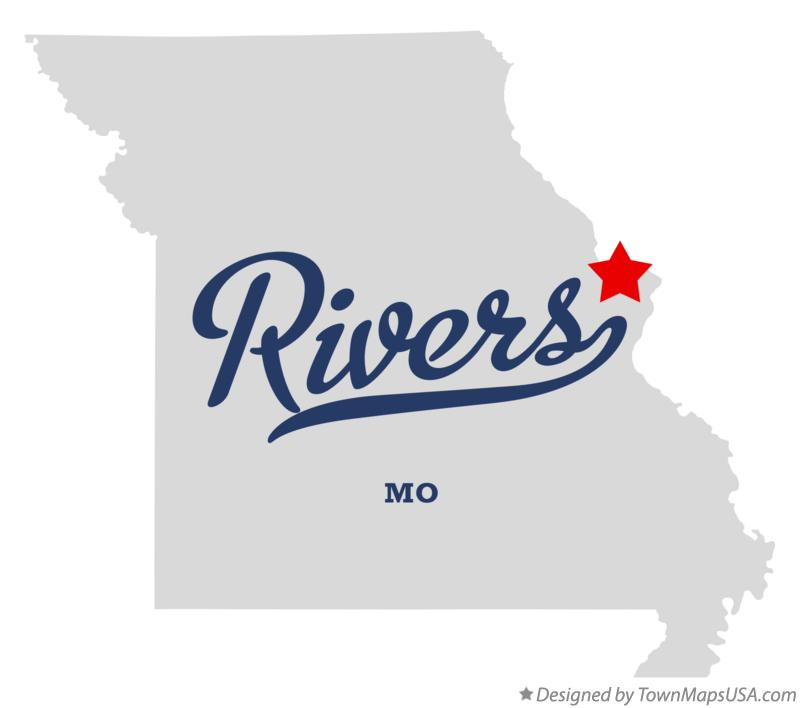 Map of Rivers Missouri MO