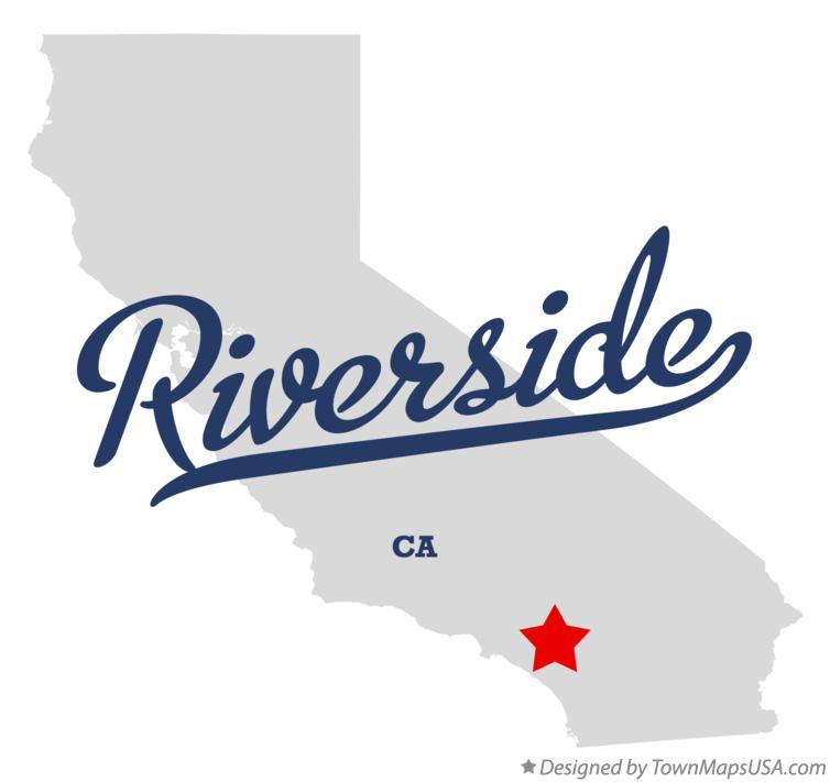 Map of Riverside, Riverside County, CA, California