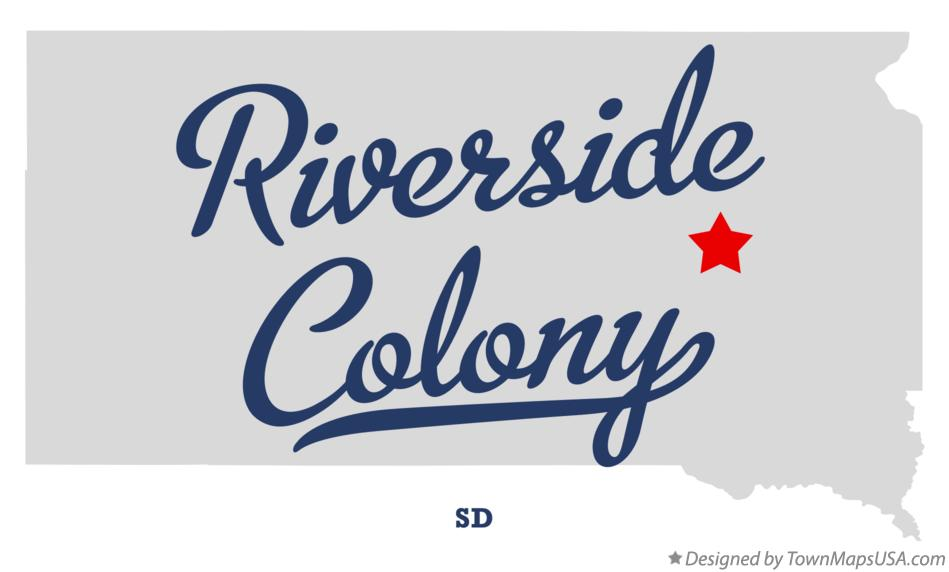 Map of Riverside Colony South Dakota SD