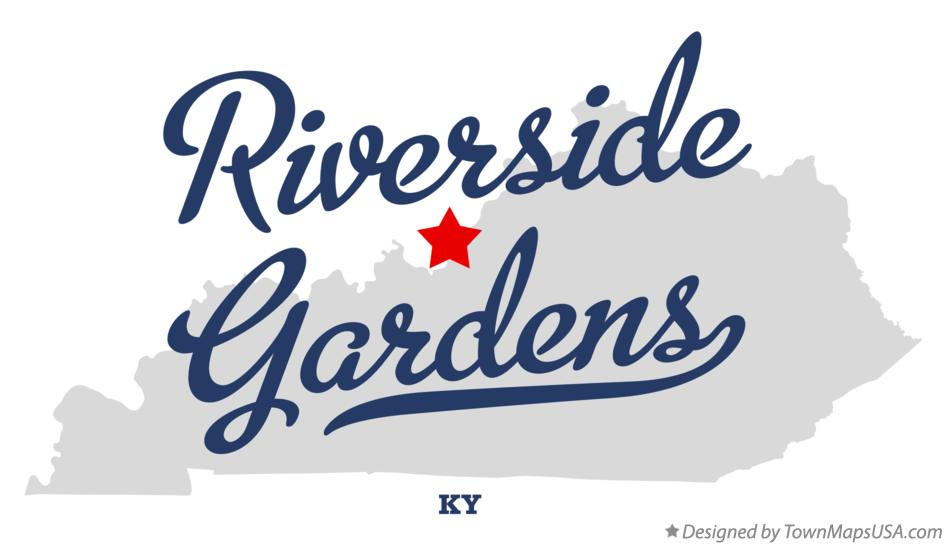 Map of Riverside Gardens Kentucky KY