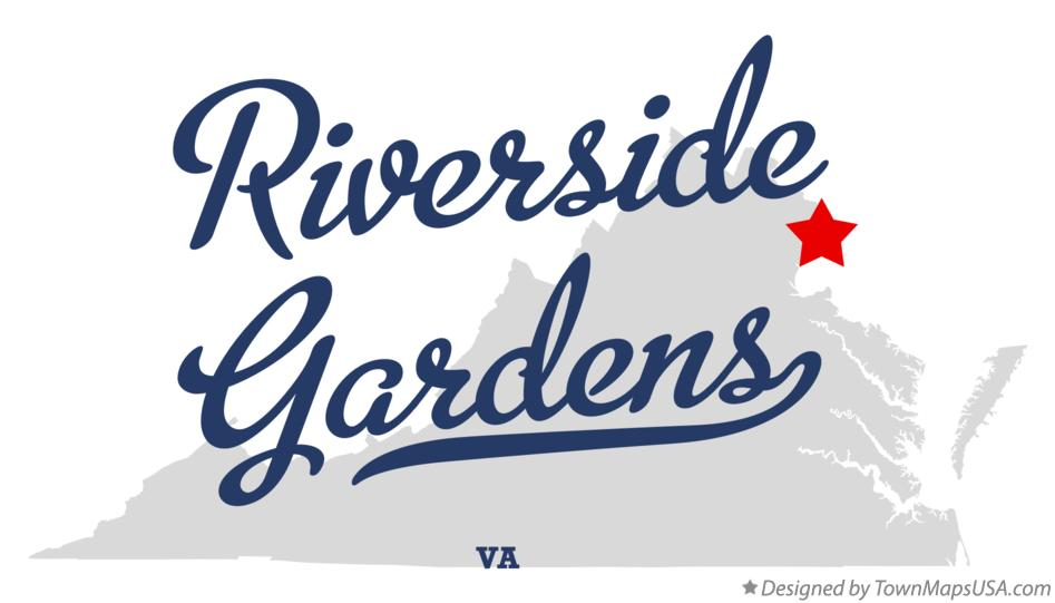 Map of Riverside Gardens Virginia VA