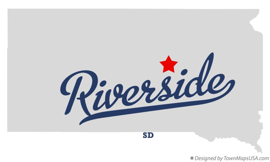 Map of Riverside South Dakota SD