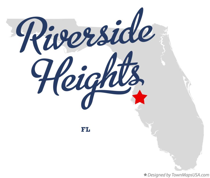 Map of Riverside Heights Florida FL