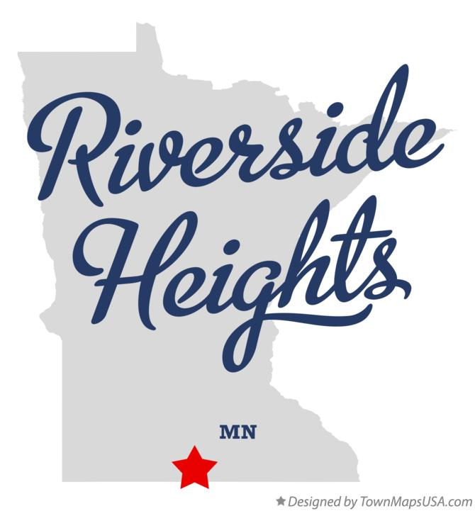 Map of Riverside Heights Minnesota MN