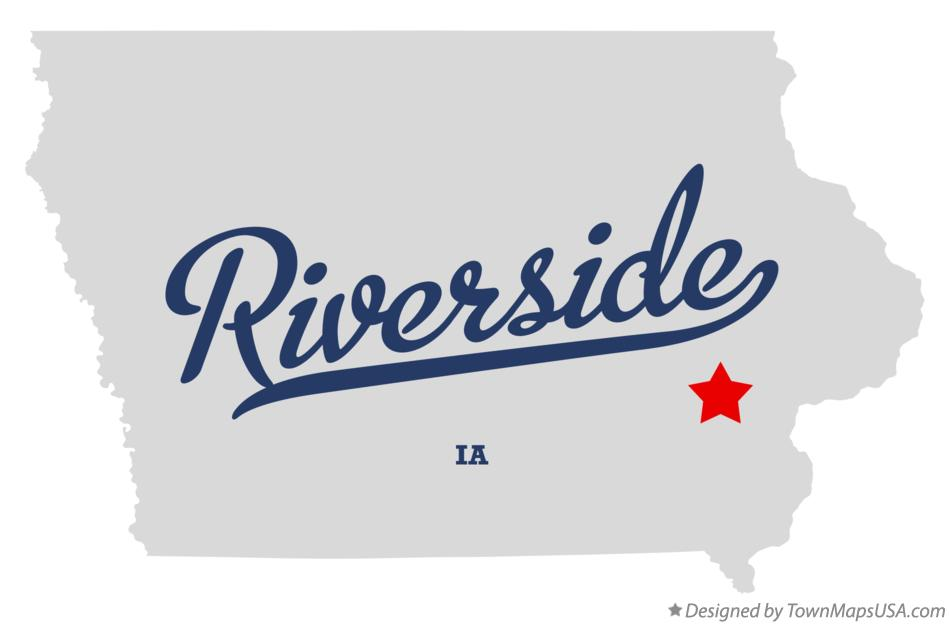 Map of Riverside Iowa IA