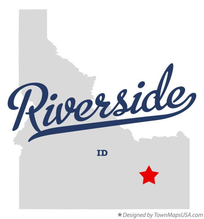 Map of Riverside Idaho ID