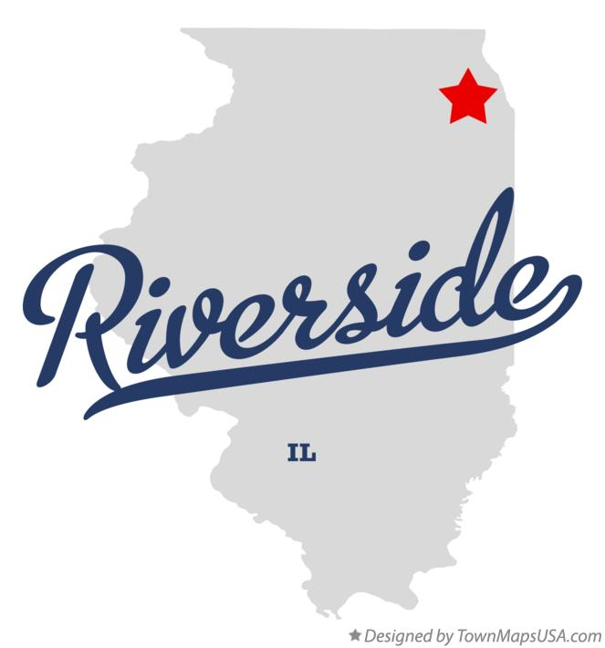 Map of Riverside Illinois IL