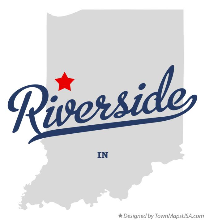 Map of Riverside Indiana IN