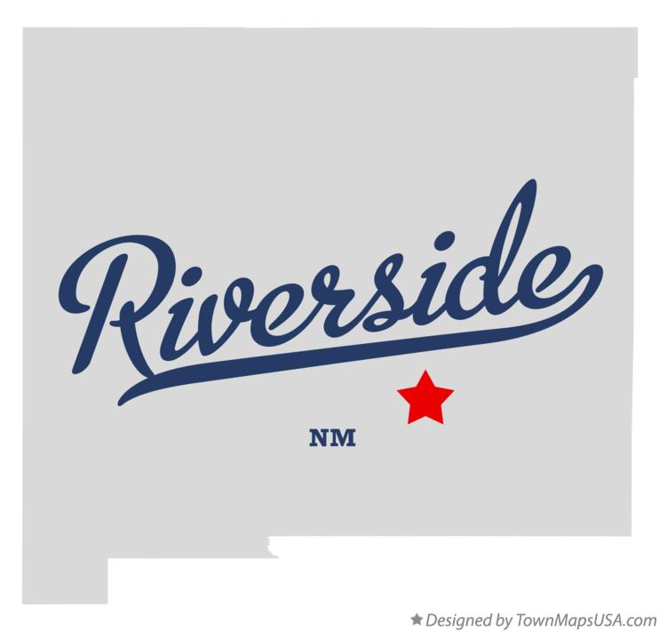 Map of Riverside New Mexico NM