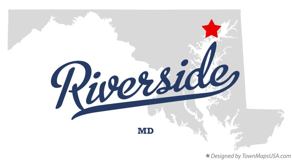 Map of Riverside Maryland MD