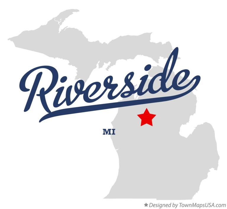 Map of Riverside Michigan MI