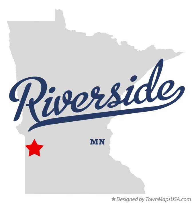 Map of Riverside Minnesota MN
