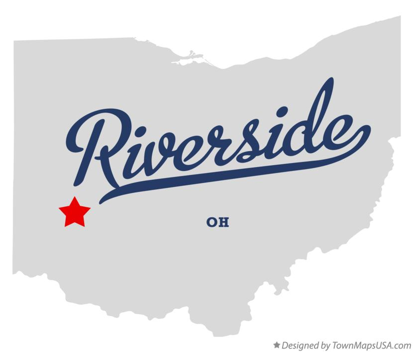 Map of Riverside Ohio OH