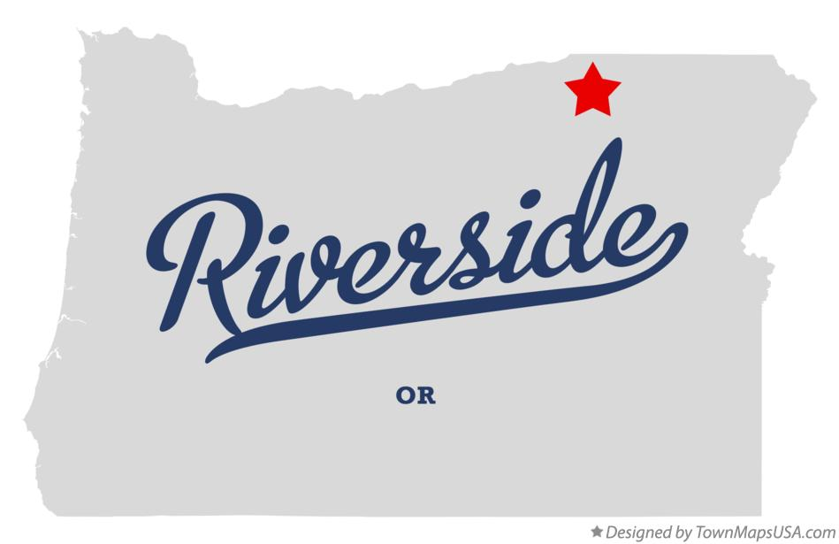 Map of Riverside Oregon OR