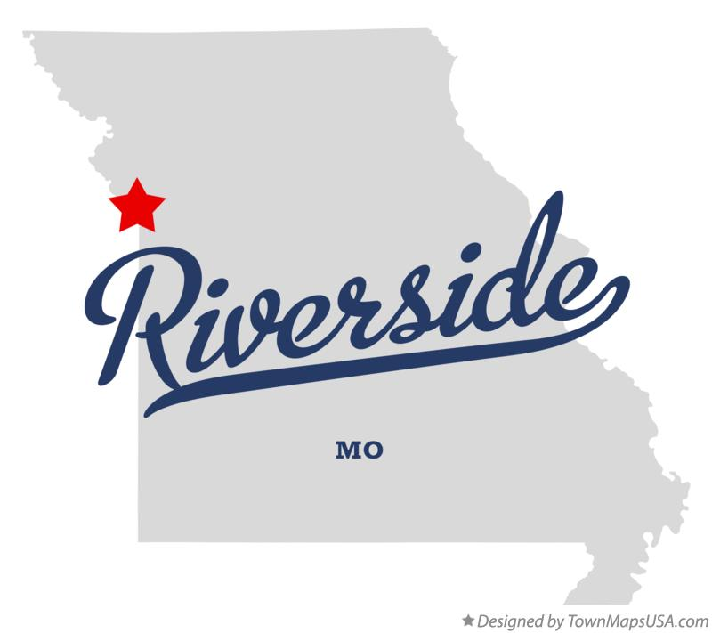 Map of Riverside Missouri MO