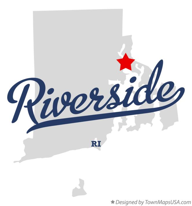 Map of Riverside Rhode Island RI