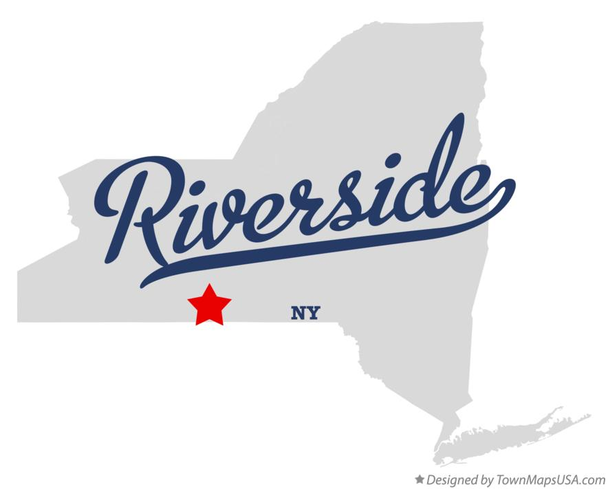 Map of Riverside New York NY