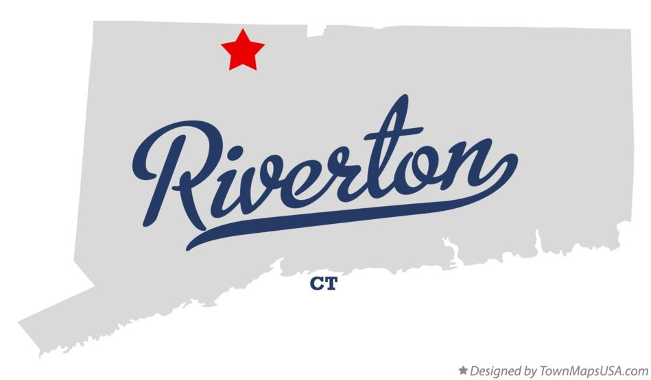 Map of Riverton CT Connecticut