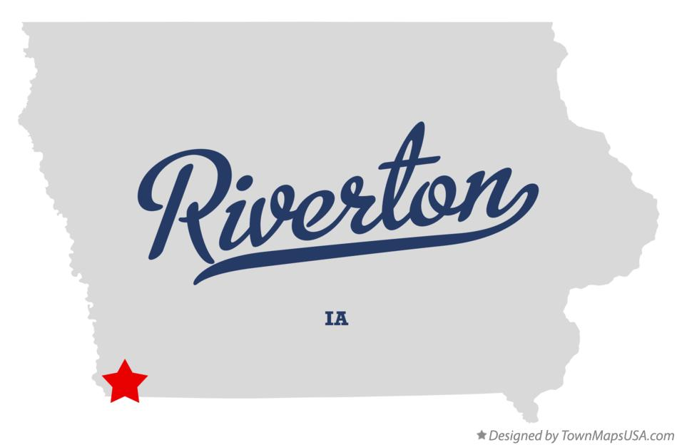 Map of Riverton Iowa IA