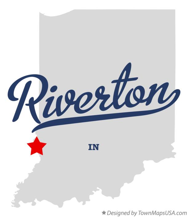 Map of Riverton Indiana IN