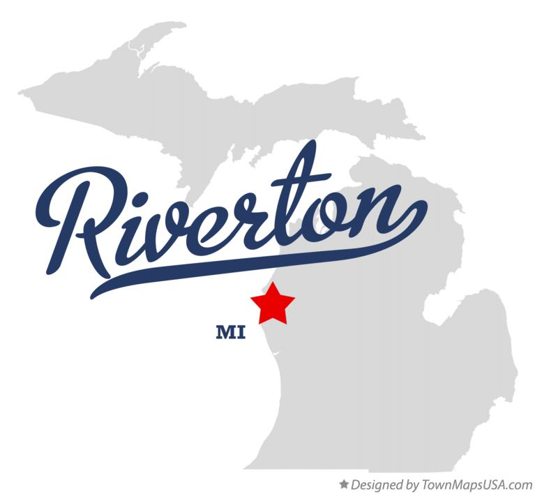 Map of Riverton Michigan MI