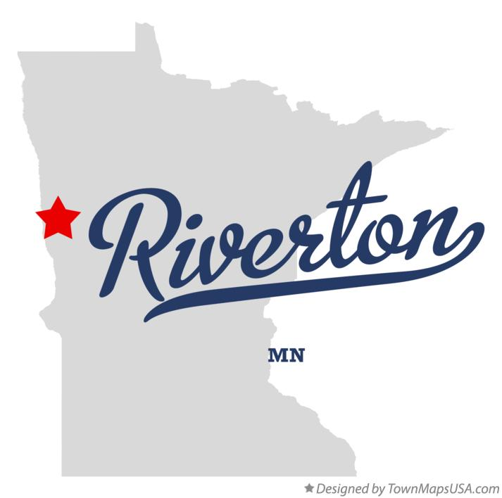 Map of Riverton Minnesota MN