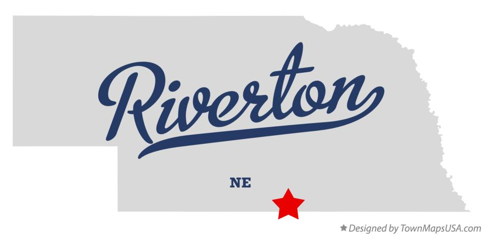 Map of Riverton Nebraska NE