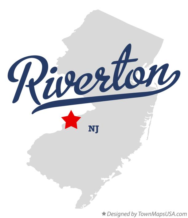 Map of Riverton New Jersey NJ