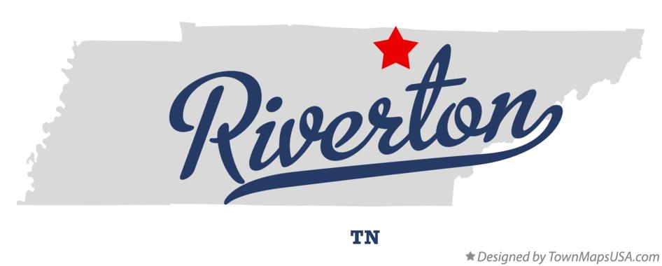 Map of Riverton Tennessee TN