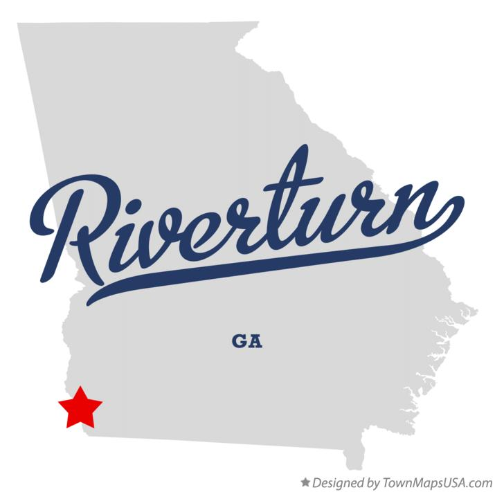 Map of Riverturn Georgia GA