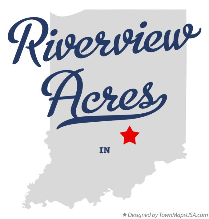 Map of Riverview Acres Indiana IN