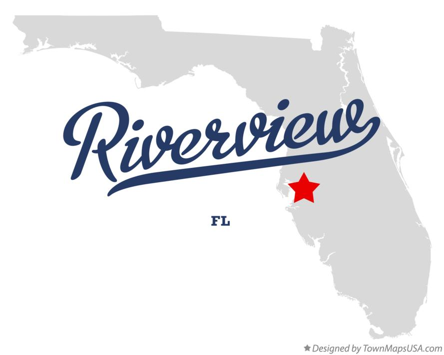 Map of Riverview Florida FL