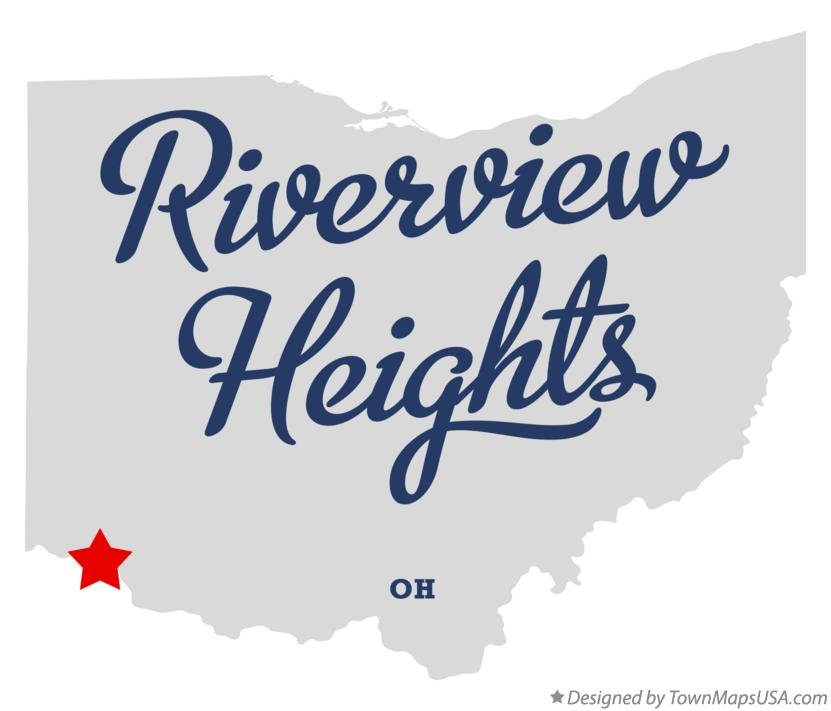 Map of Riverview Heights Ohio OH