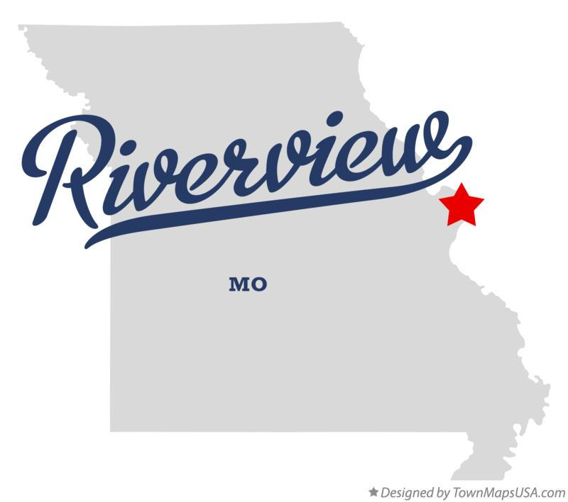 Map of Riverview Missouri MO