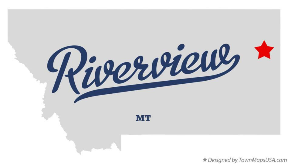 Map of Riverview Montana MT