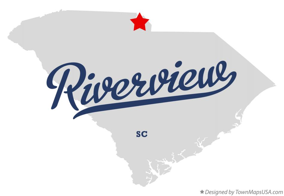 Map of Riverview South Carolina SC
